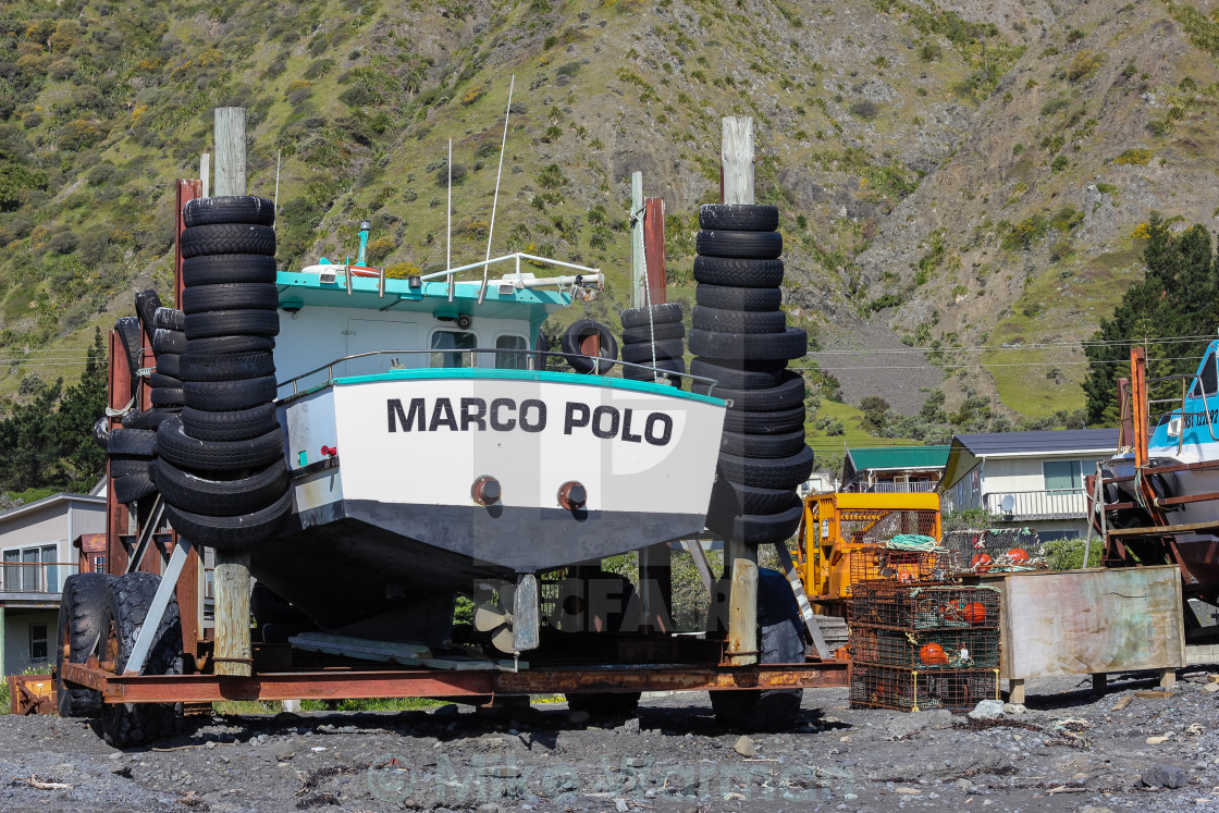 """Ngawi fishing boats"" stock image"