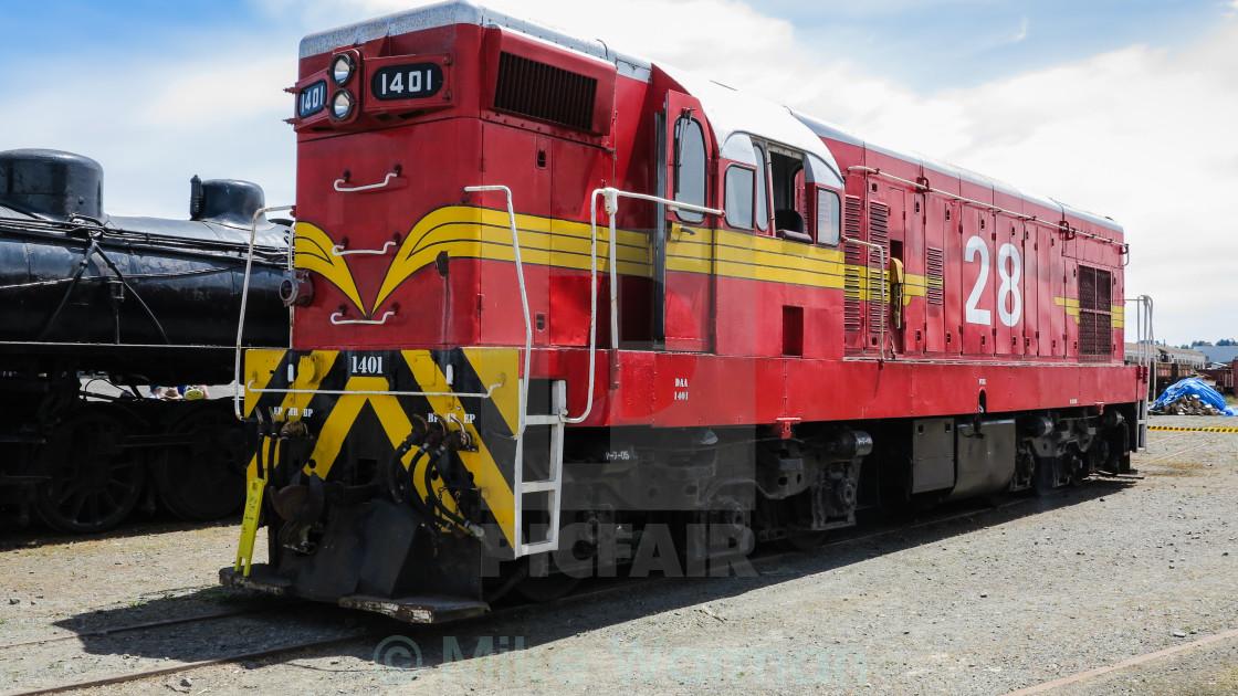 """""""veteran diesel locomotive"""" stock image"""