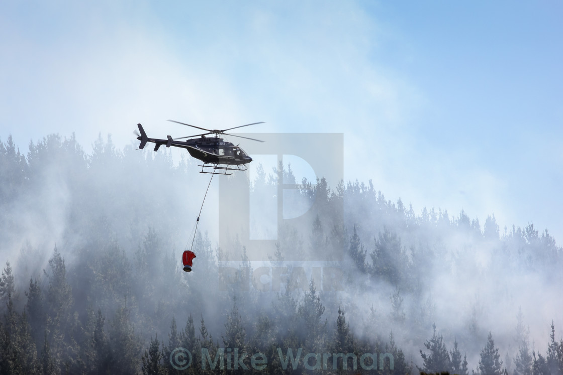 """""""helicopter fighting fire"""" stock image"""