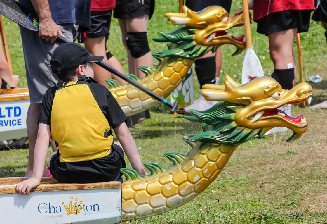 """dragon boat figureheads"" stock image"