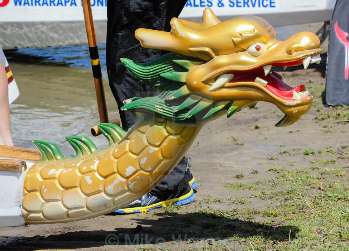 """dragon boat figurehead"" stock image"