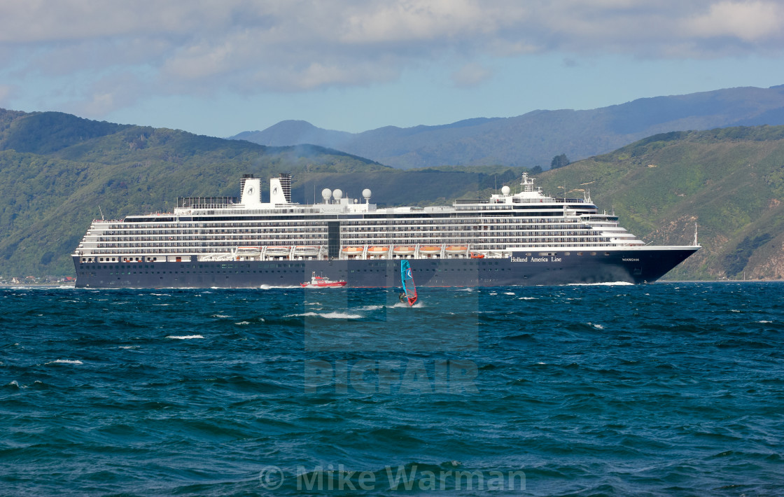 """Cruise ship Noordam"" stock image"