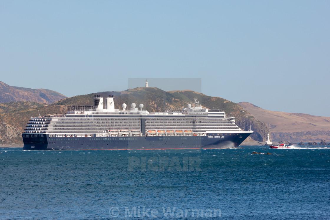 """""""Noordam departs Wellington"""" stock image"""