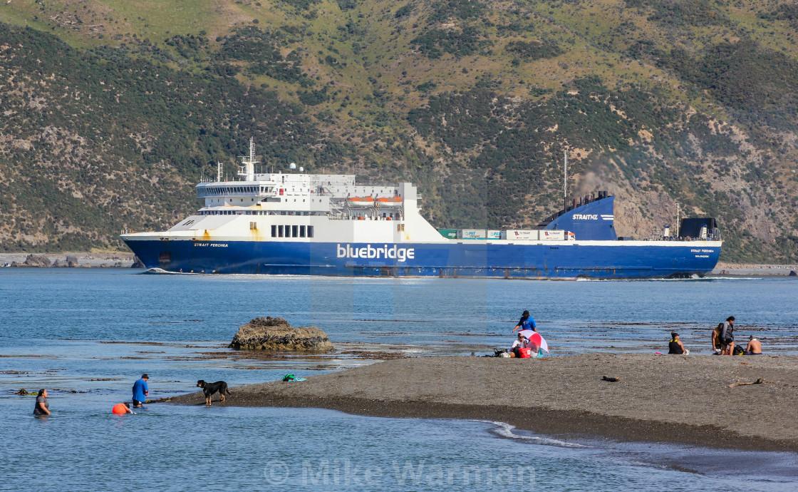 """""""Bluebridge ferry"""" stock image"""