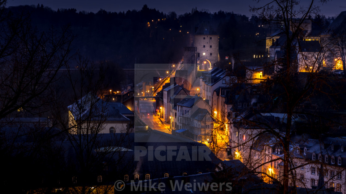 """Luxembourg City view to the 'Rahm'"" stock image"