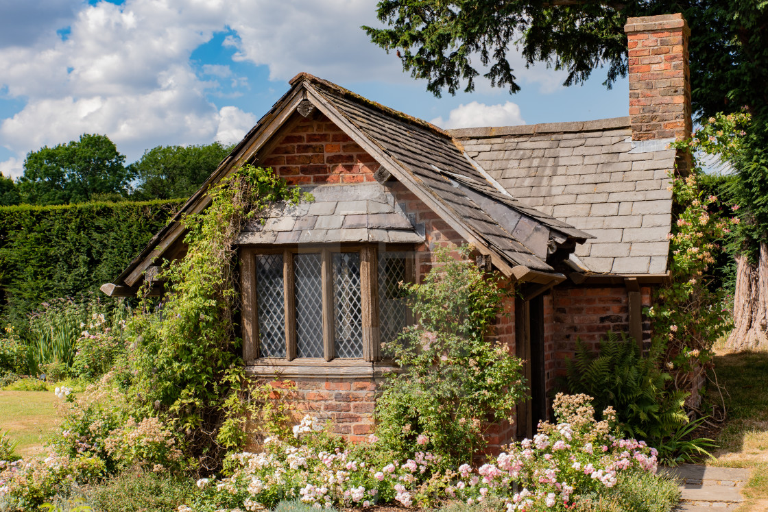 """""""The Groundsman's Cottage"""" stock image"""