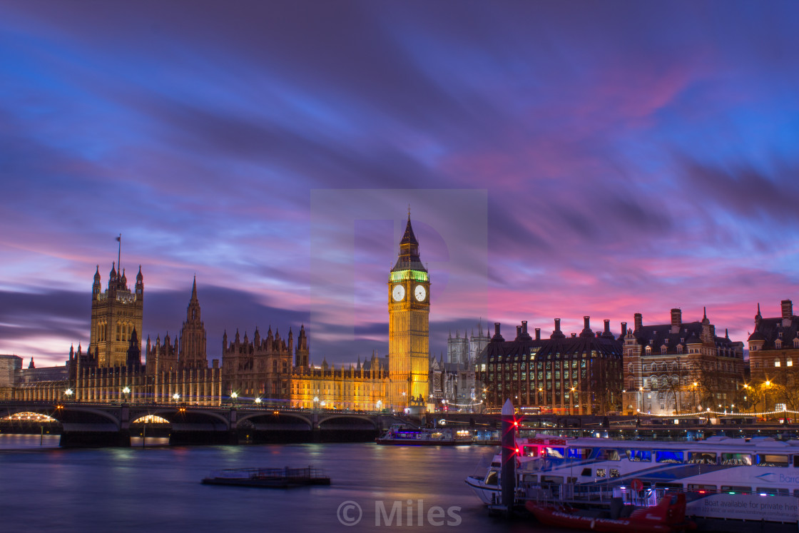 """""""Big Ben And the Houses of Parliament"""" stock image"""