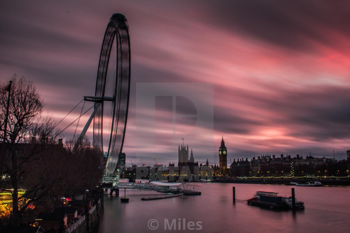 """""""London Eye/Big Ben"""" stock image"""