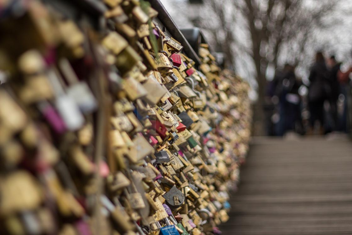 """Lovelock Bridge, Paris"" stock image"
