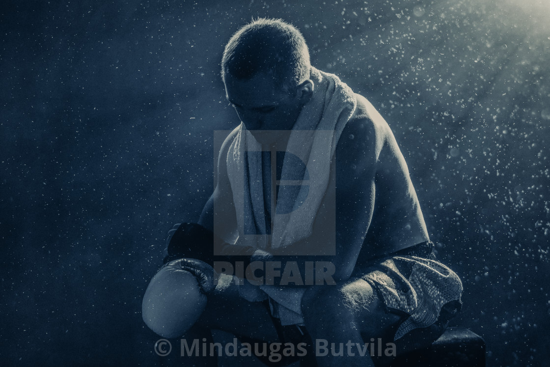 """Pro Boxer After Fight"" stock image"