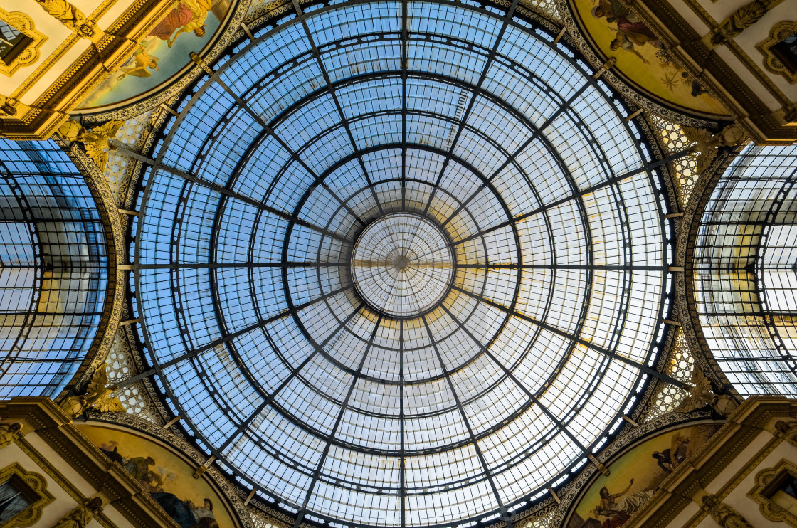 """Dome of Galleria Emanuale Vittorio II, Milan"" stock image"