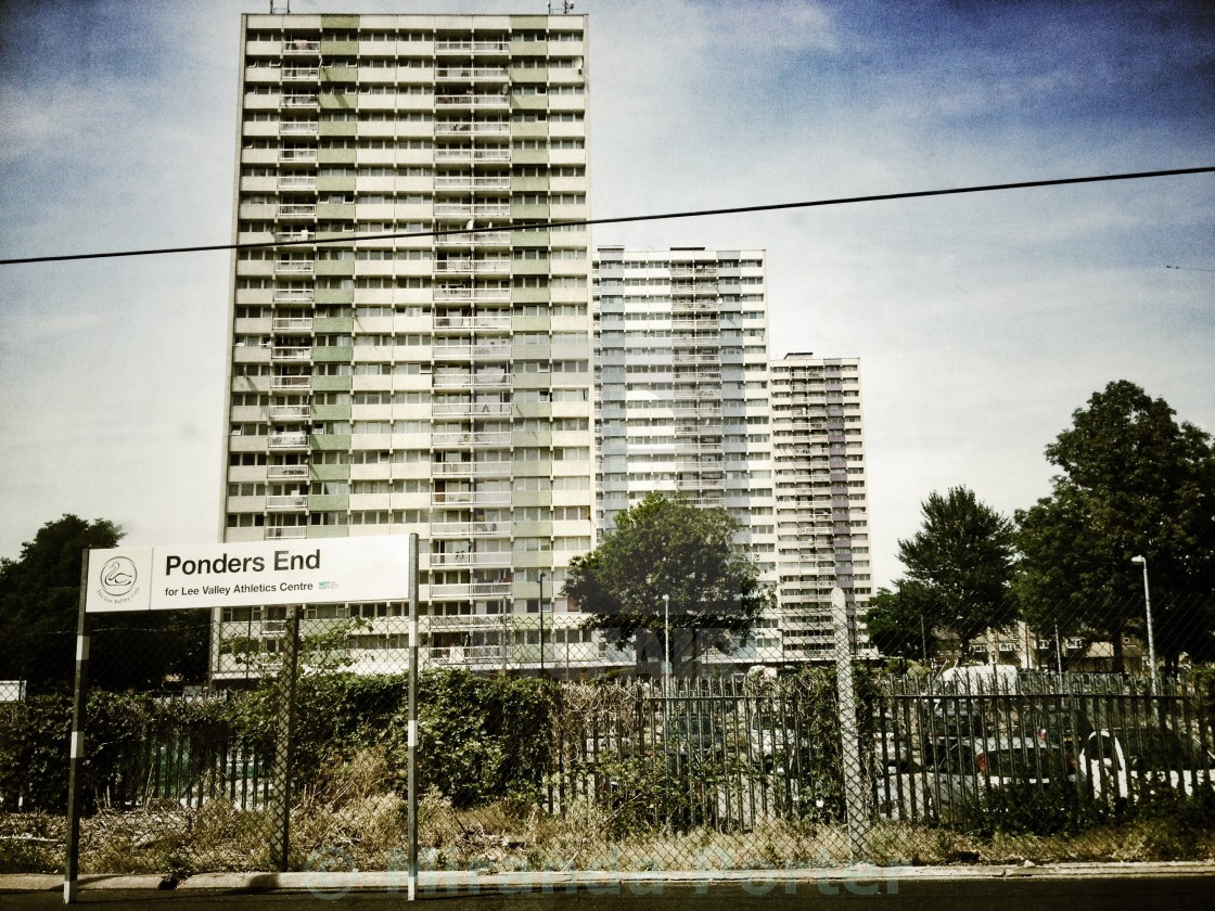 """Ponders End"" stock image"