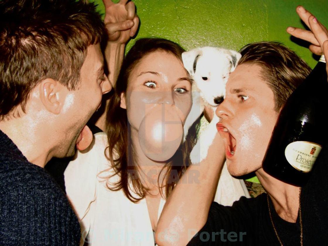 """""""Bubbles, dogs, fizz"""" stock image"""