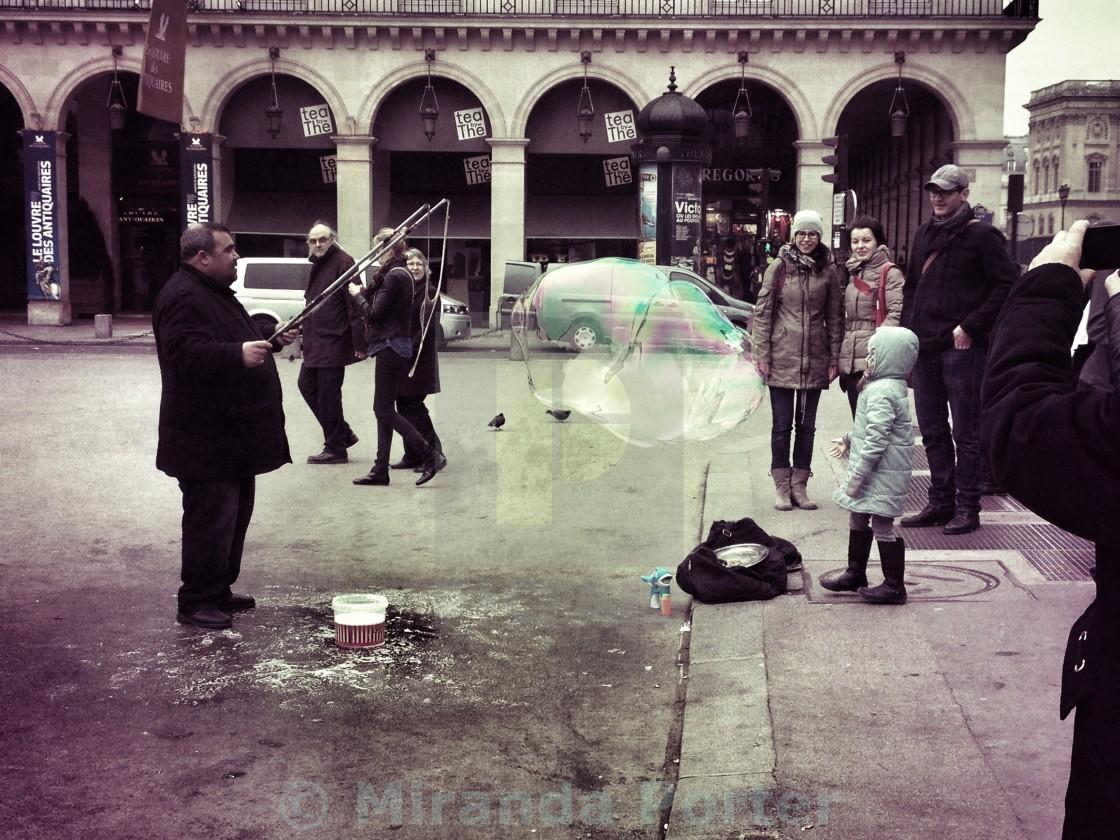 """""""Bubbles in Paris"""" stock image"""