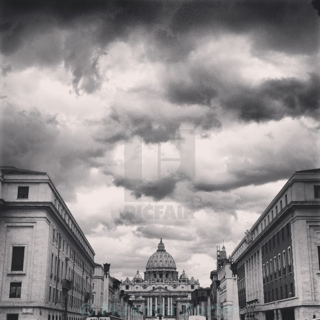 """""""Clouds over the Vatican"""" stock image"""