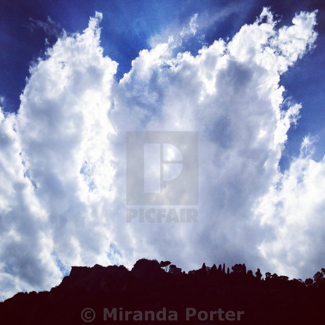 """""""Clouds over the horizon"""" stock image"""