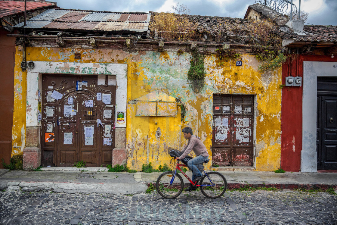 """Antigua by bicycle"" stock image"