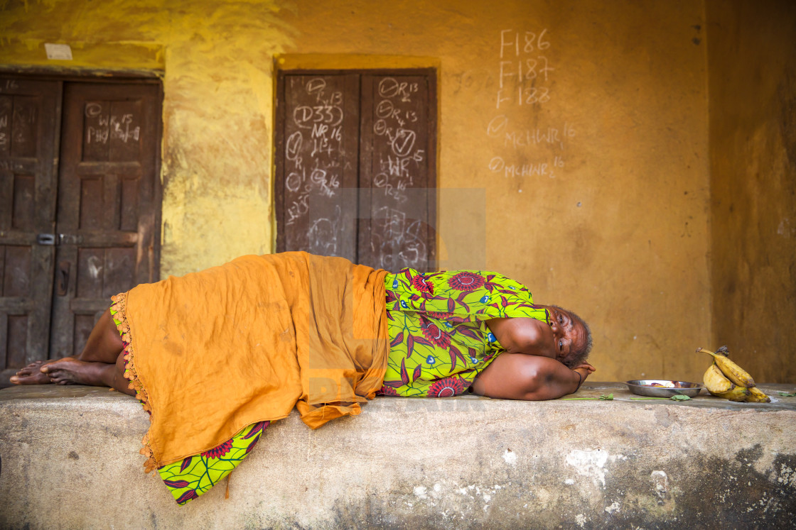 """People and Faces of Sierra Leone XV"" stock image"