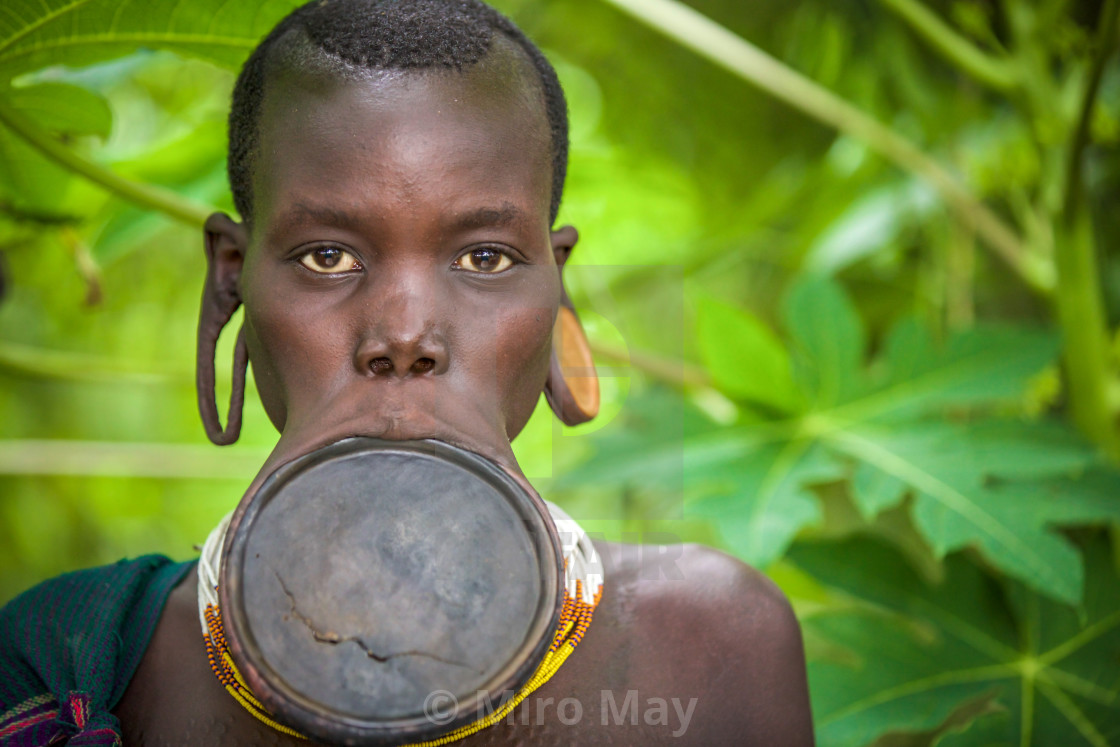 """Lip Plate"" stock image"