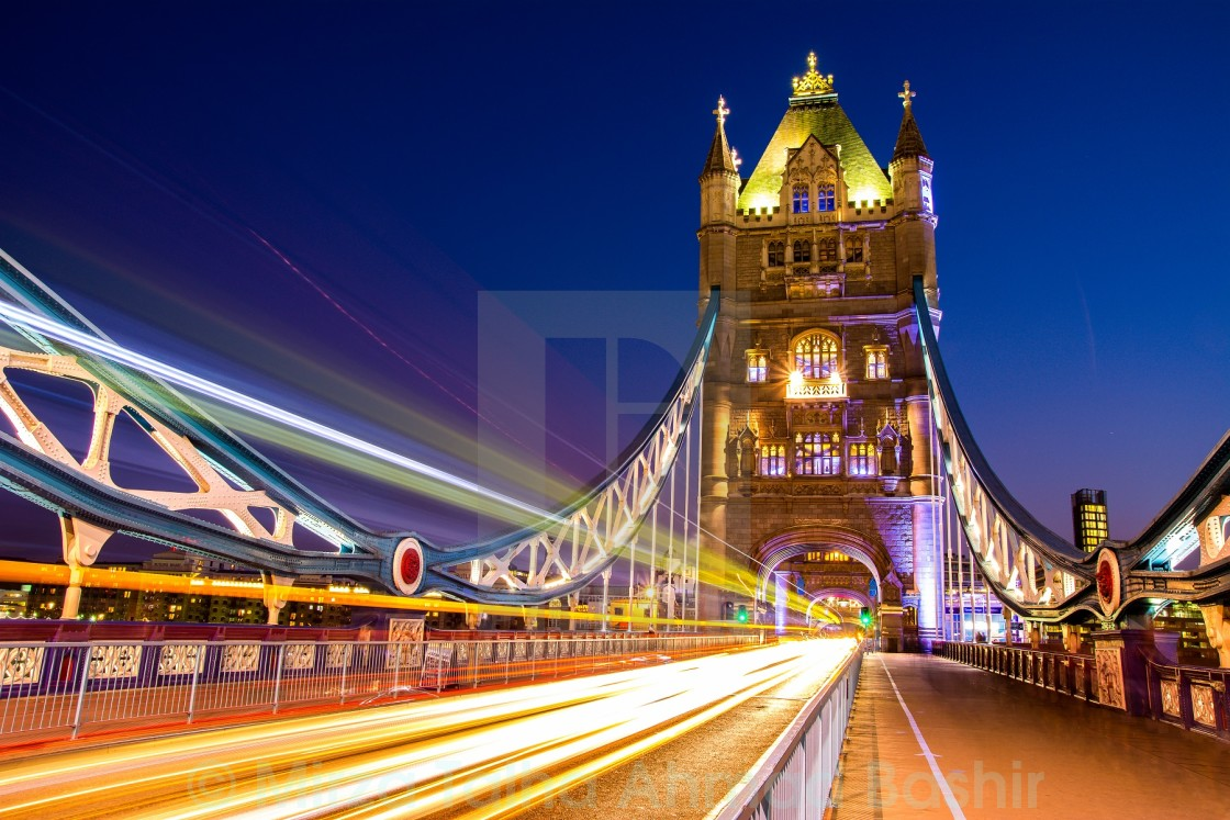 """London at night"" stock image"