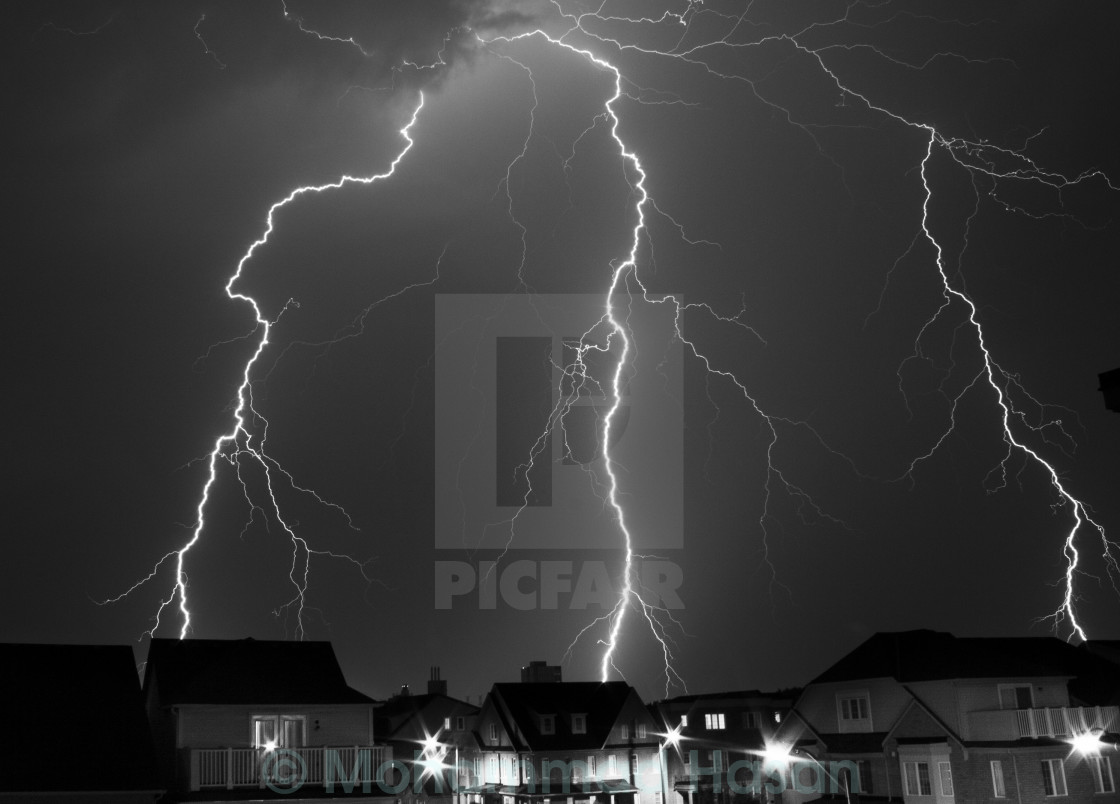 """Lightning on the Village!"" stock image"