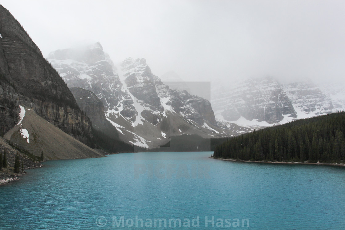 """Beautiful Moraine Lake"" stock image"