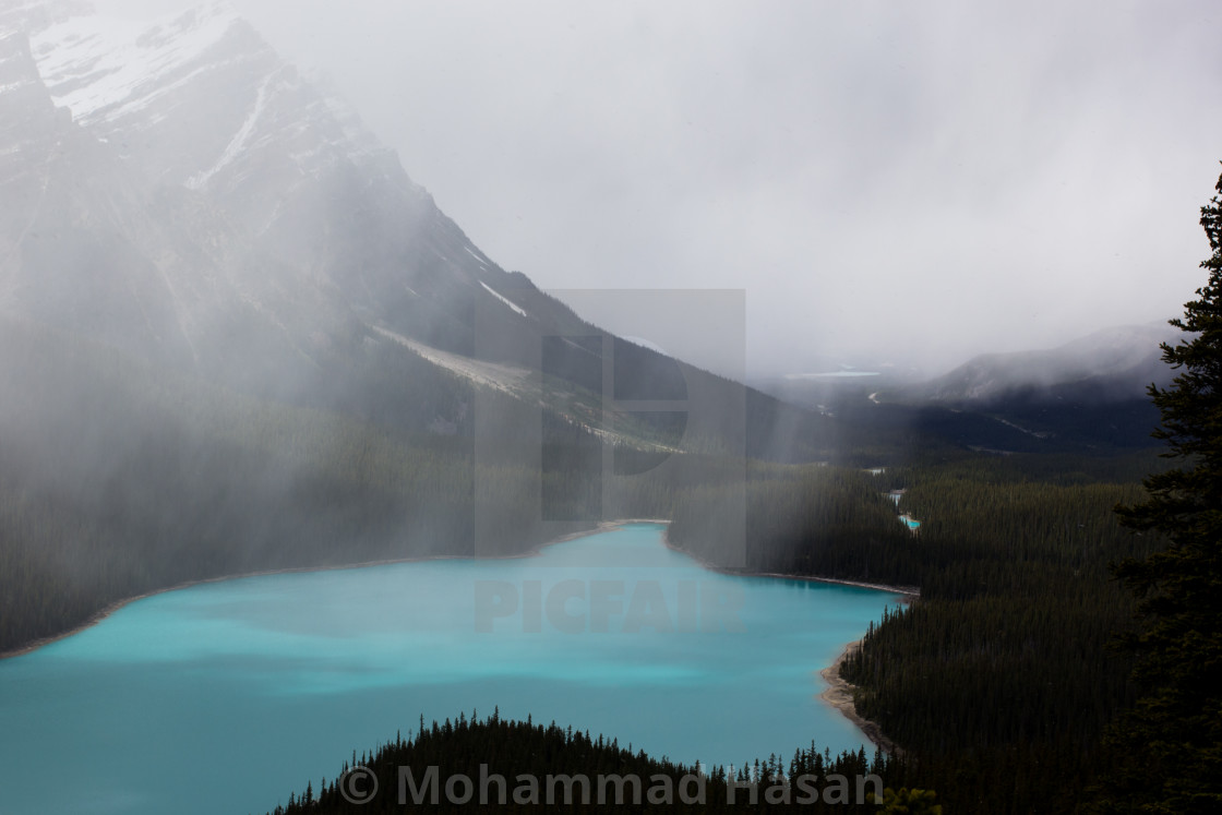 """Beautiful Peyto Lake-II"" stock image"