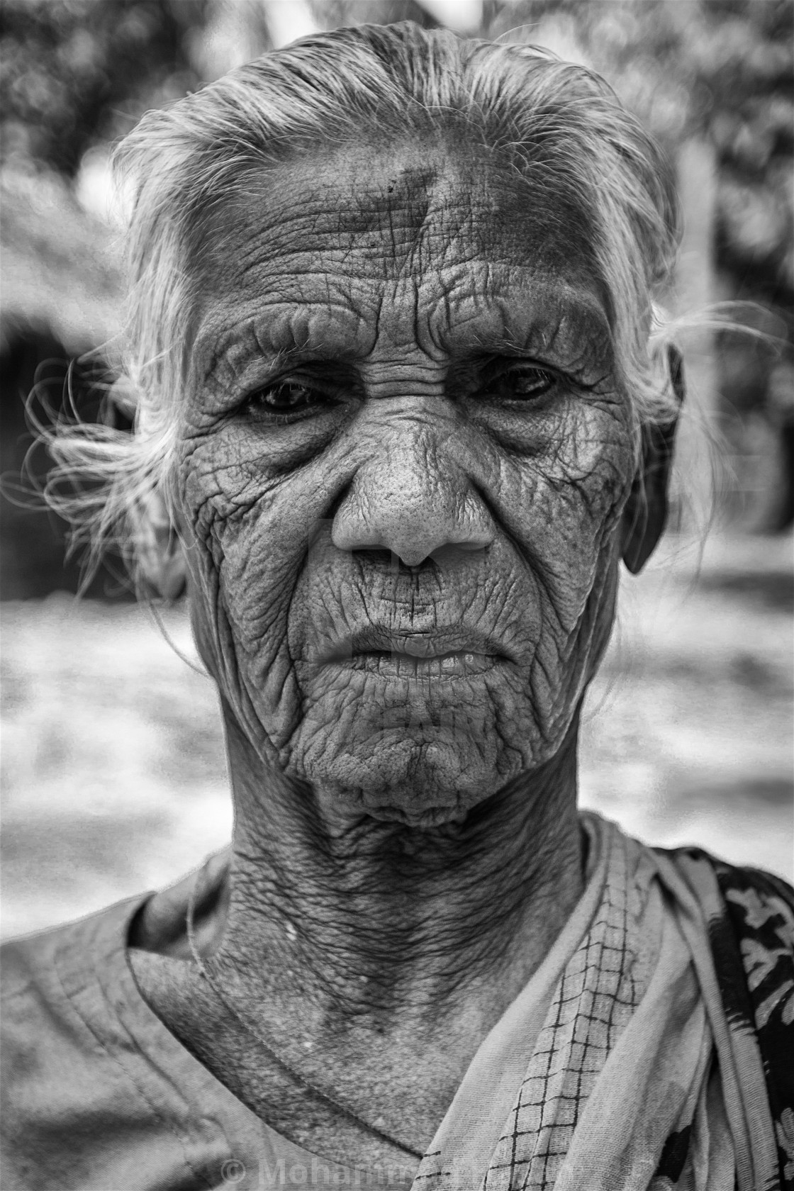 """An Indigenous Elderly"" stock image"