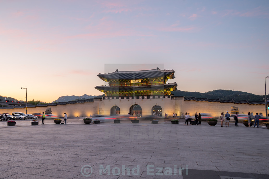 """Gwanghwamun Gate, Gyeongbokgung Palace in Seoul, South Korea"" stock image"