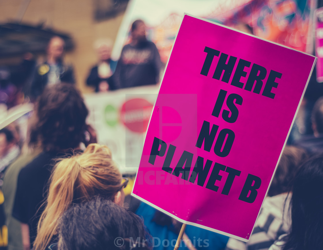 """Climate Change March Sign"" stock image"