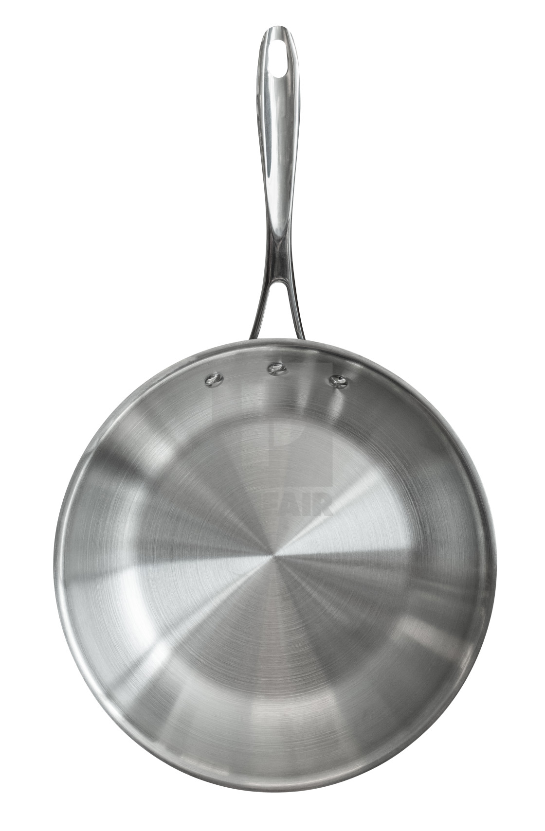 """""""Isolated Stainless Steel Frying Pan"""" stock image"""