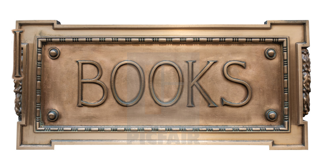 """""""Vintage Sign For A Book Store"""" stock image"""