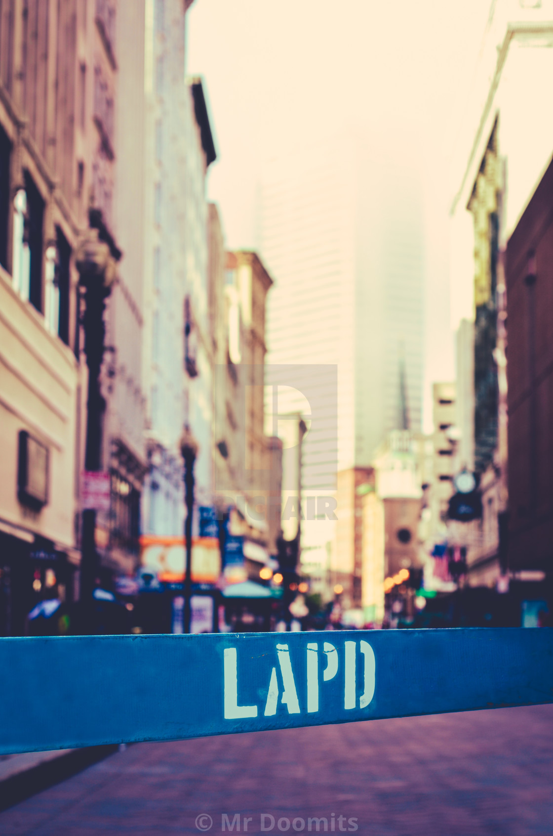 """Los Angeles Police Dept Barrier"" stock image"