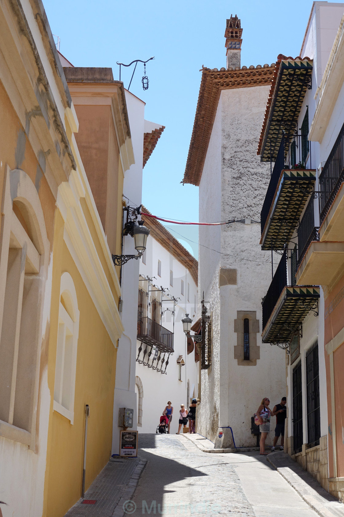 """""""Streets of Sitges"""" stock image"""