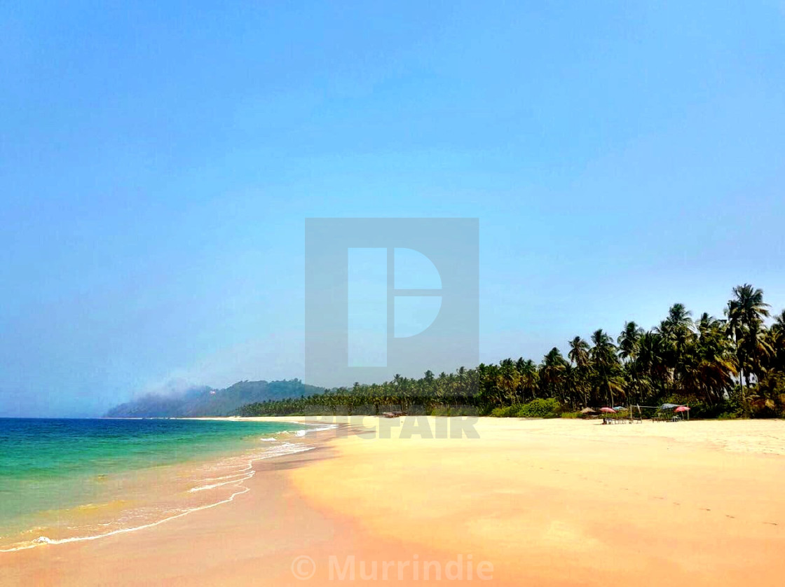 """A little piece of paradise in Myanmar"" stock image"