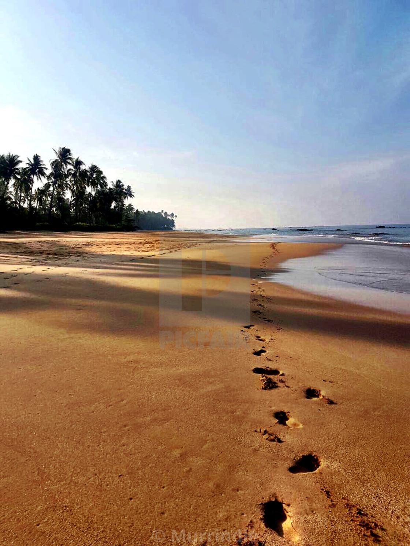 """Beach strolls in Ngapali, Myanmar"" stock image"
