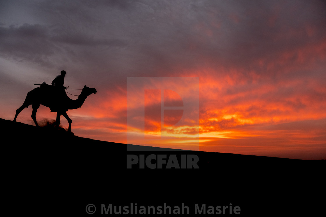 """Sunset at Thar Desert."" stock image"