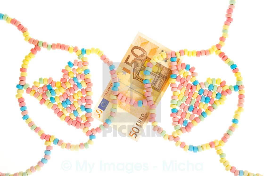 """Candy lingerie with money"" stock image"