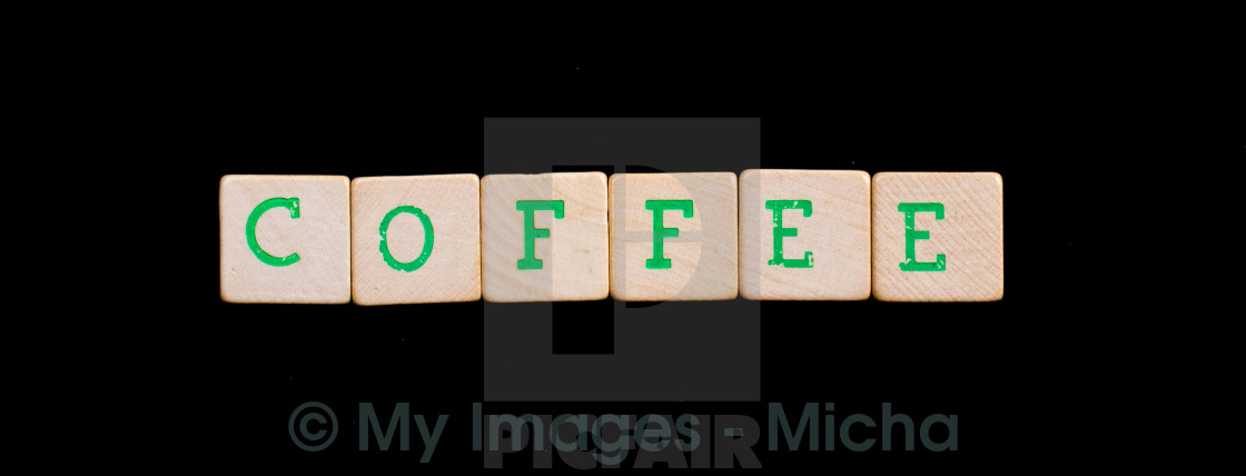 Letters On Wooden Blocks Coffee License For 620 On Picfair