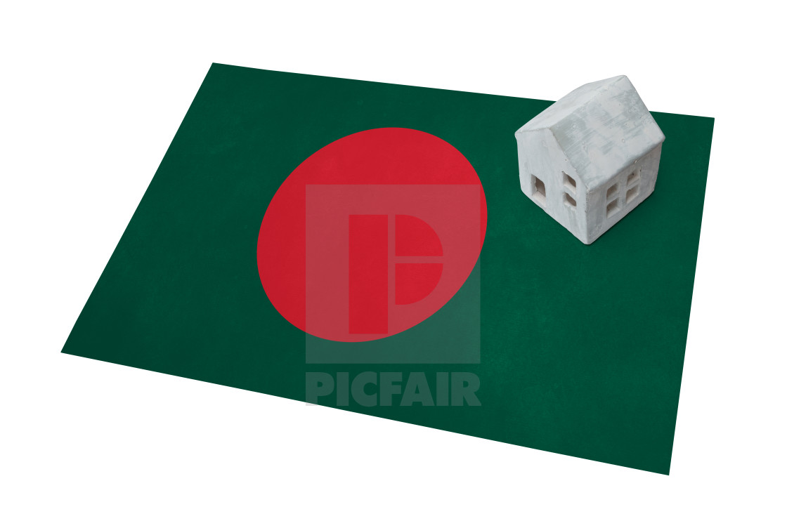 Small house on a flag - Bangladesh - License, download or