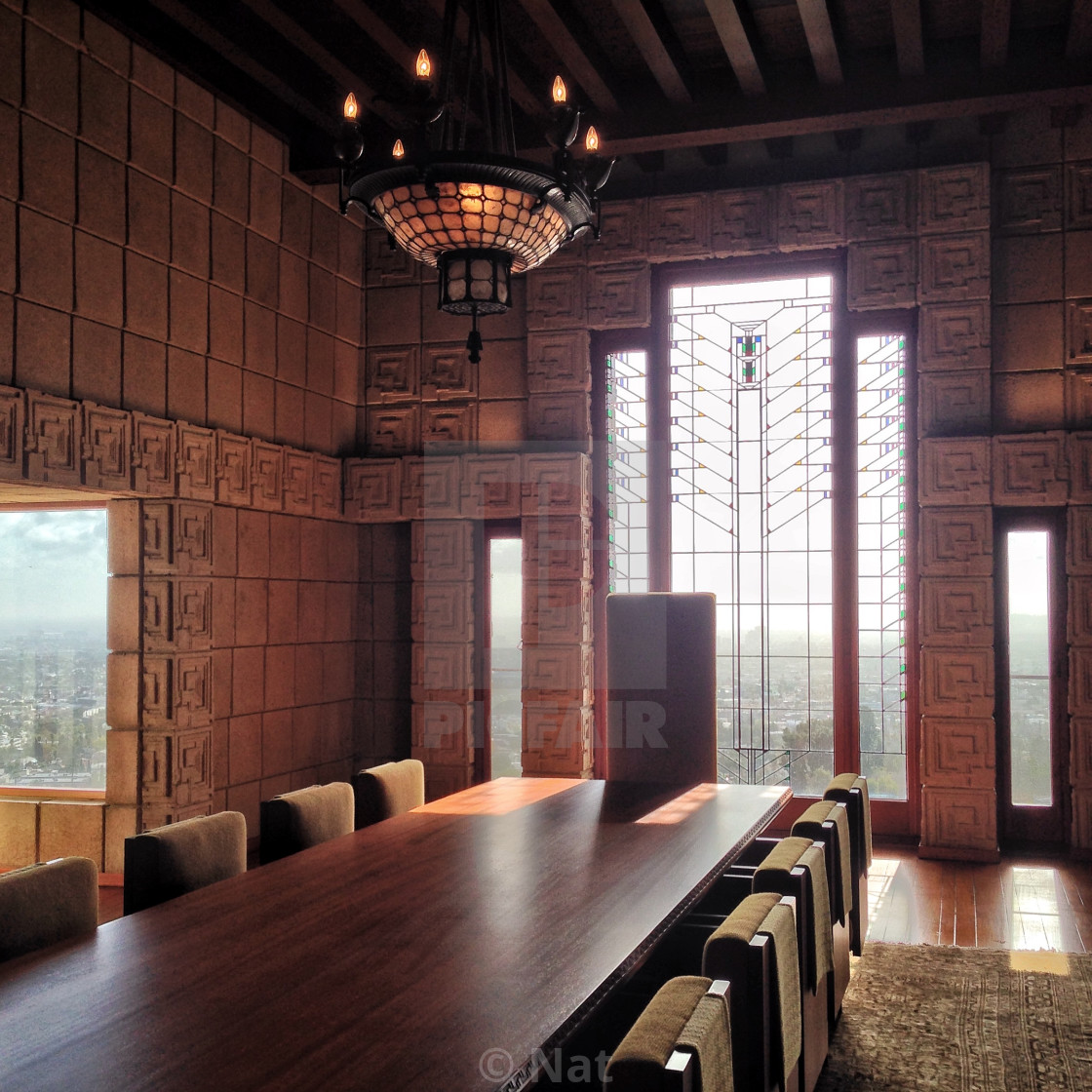 """Ennis House, Los Angeles"" stock image"