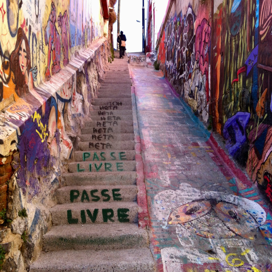 """Staircase in Valparaiso"" stock image"