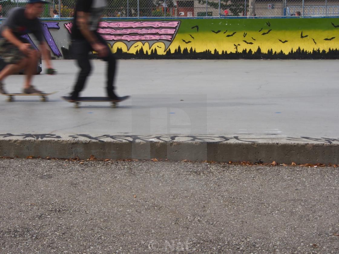 """""""Skateboard street scene"""" stock image"""