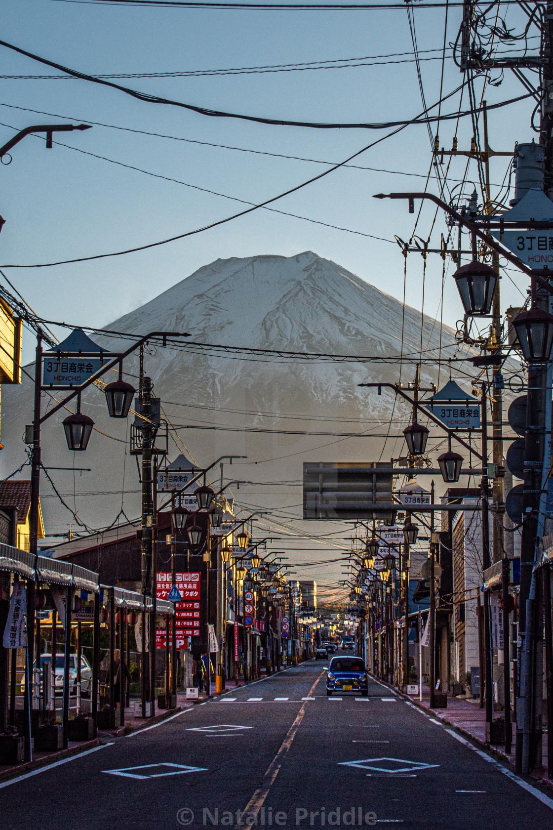 """The road to Fuji"" stock image"
