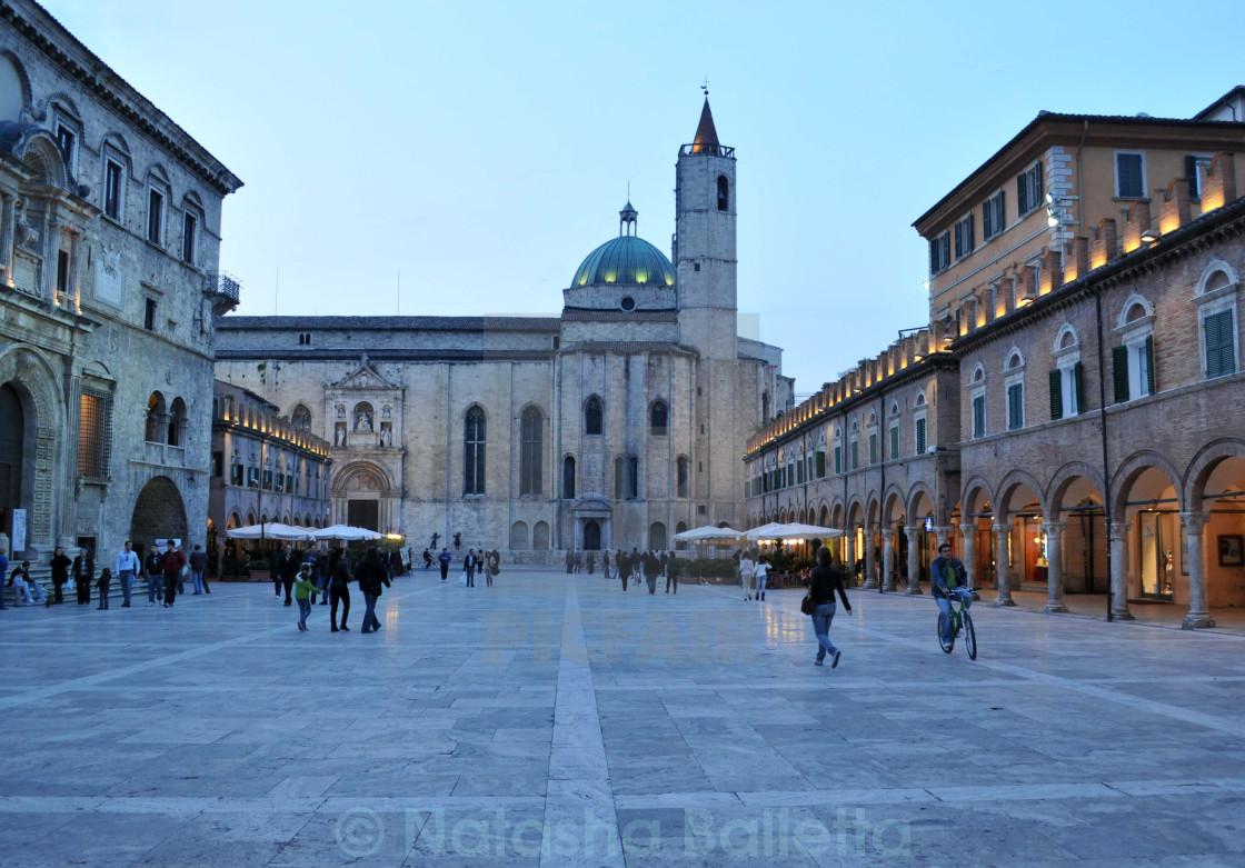 """""""Piazza Del Popolo Ascoli Piceno Italy"""" stock image"""