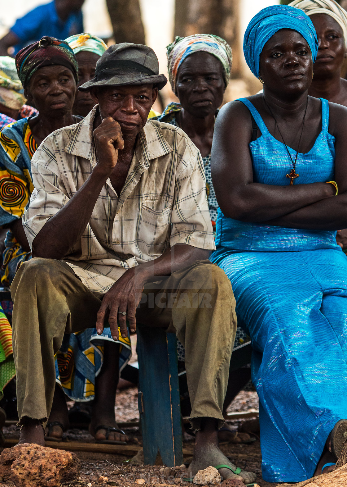 """Ghana Man Listening"" stock image"