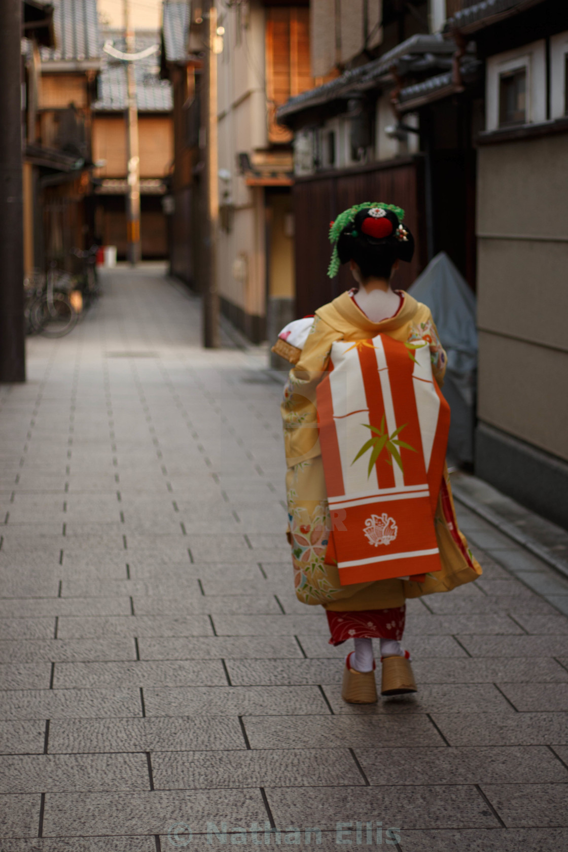 """Maiko Running Errands"" stock image"