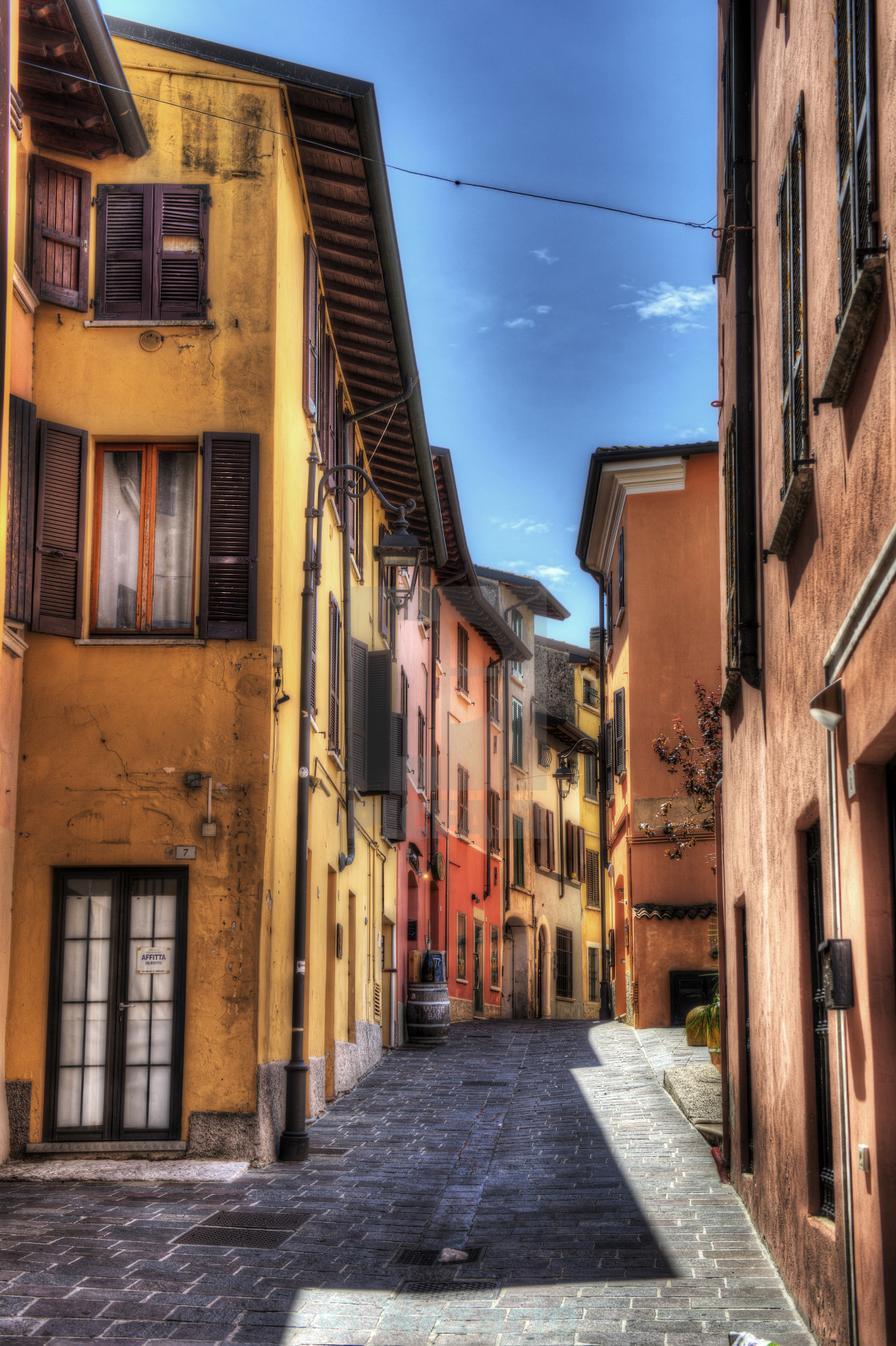 """""""colorful alleys"""" stock image"""