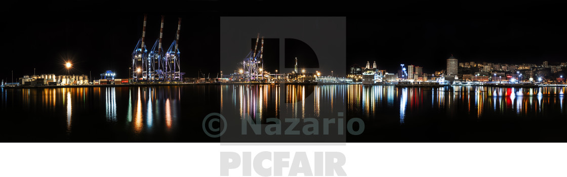 """Port of Genoa"" stock image"