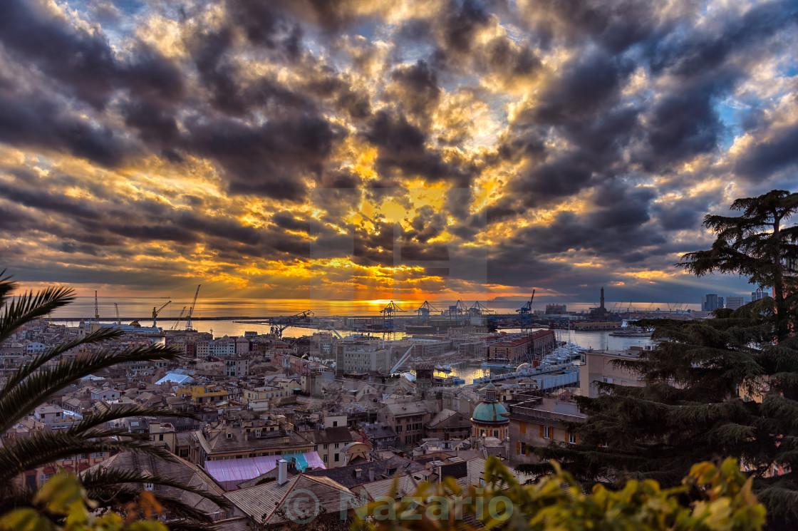 """The skies of Genoa"" stock image"